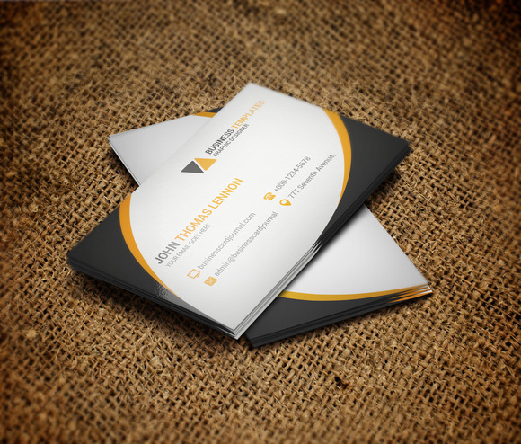 cute business card template business card templates on creative market. Black Bedroom Furniture Sets. Home Design Ideas