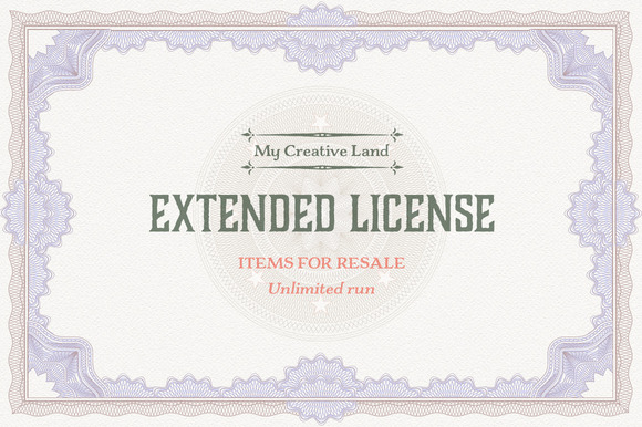 Extended License Items For Resale