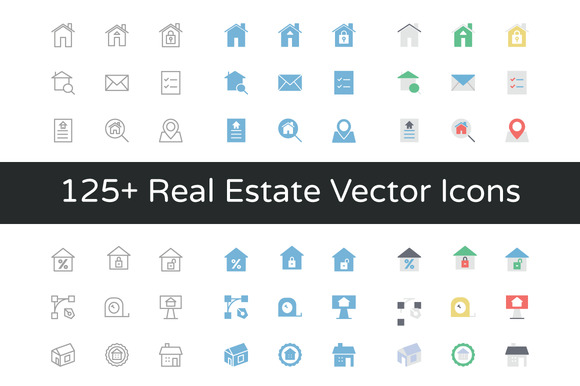 125 Real Estate Vector Icons