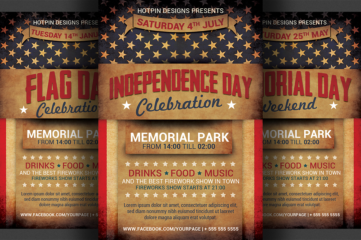 4th July Independence Day Flyer Flyer Templates On