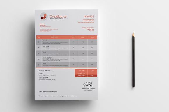 Minimal Business Invoice - Stationery - 1