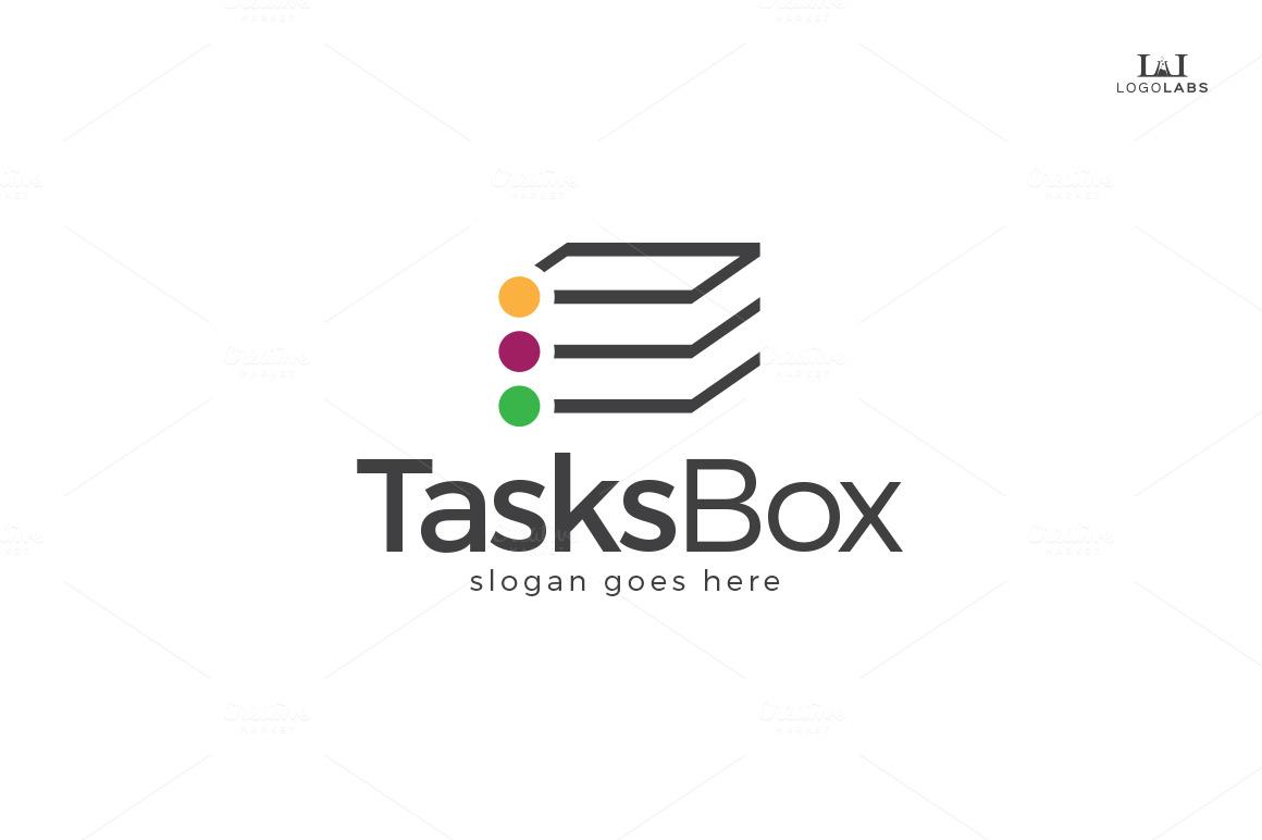 Tasks Box Logo ~ Logo Templates on Creative Market