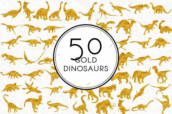 Gold Dinasaurs