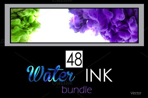 48 Water ink backgrounds. Vol. 1 - Textures