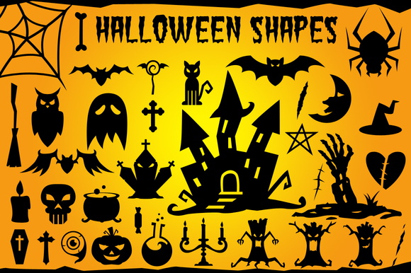 Halloween Vector Shapes Set