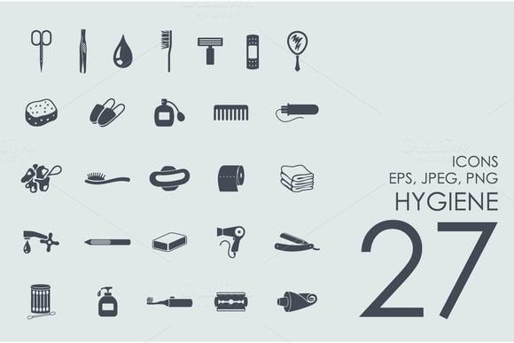 27 Hygiene Icons