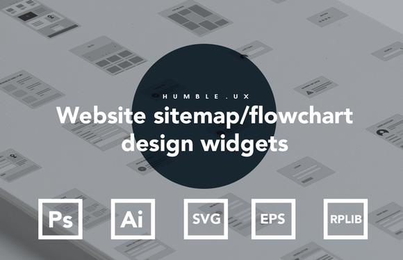 Website Sitemap Flowchart Widgets