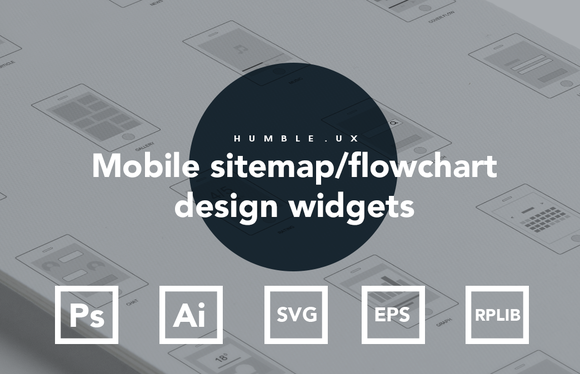 Mobile Sitemap Flowchart Widgets