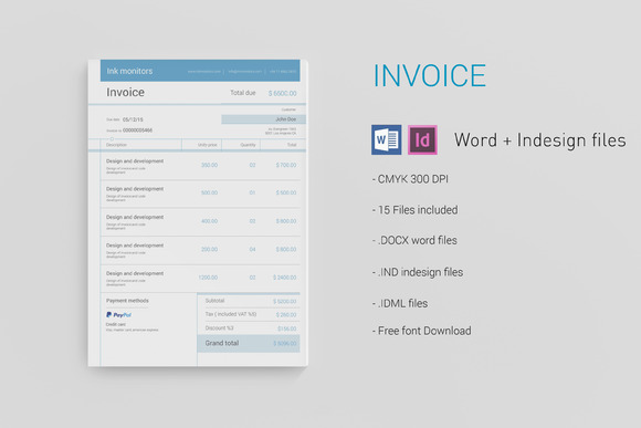 creativemarket - simple invoice 300737 | other templates, Invoice templates