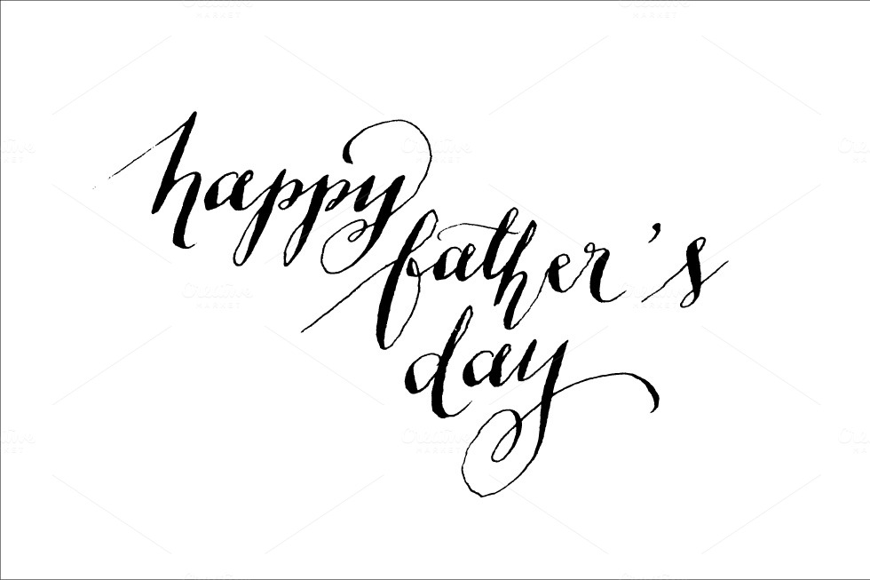 Father s day calligraphy vector objects on creative market