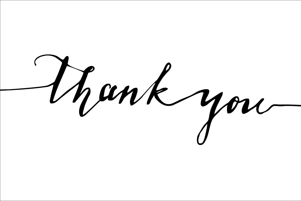 thank you calligraphy vector ~ Objects on Creative Market
