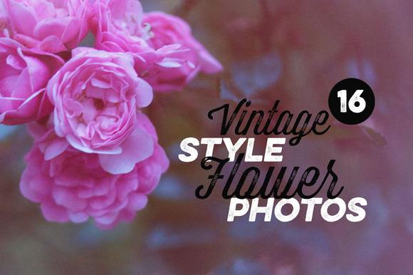 16 Vintage Style Flower Photos