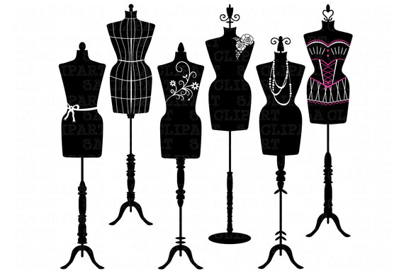 mannequin silhouette clipart illustrations on creative