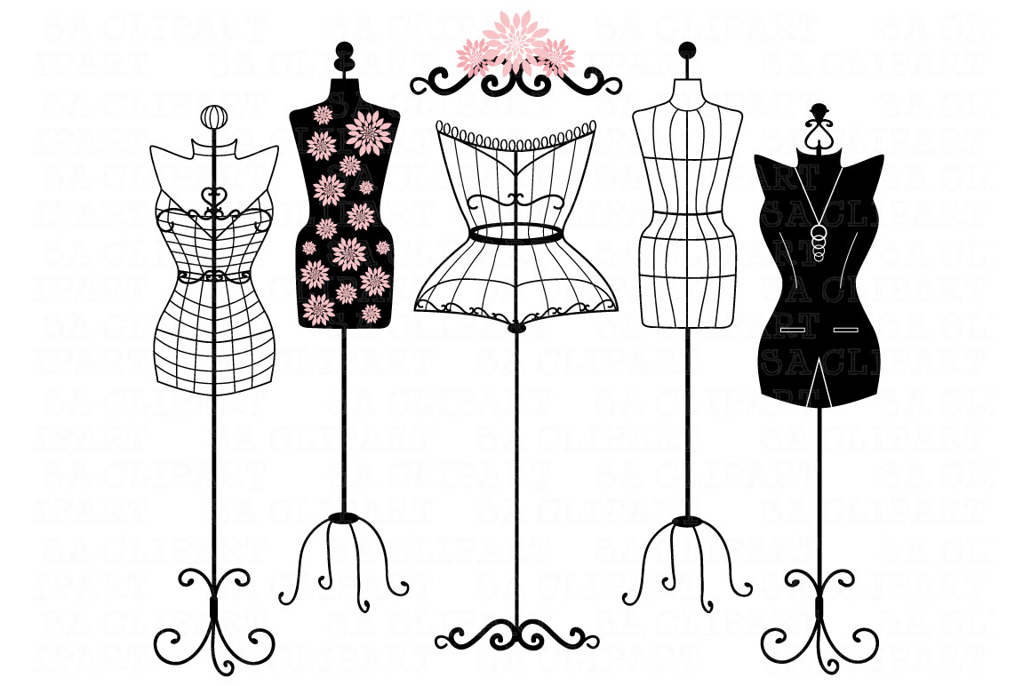Mannequin Silhouette ClipArt ~ Illustrations on Creative