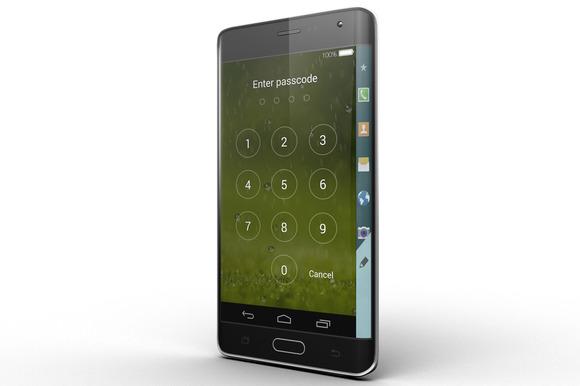 Samsung Galaxy Note Edge Mock Up