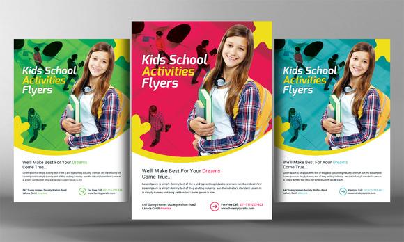 Junior School Flyer » Designtube - Creative Design Content