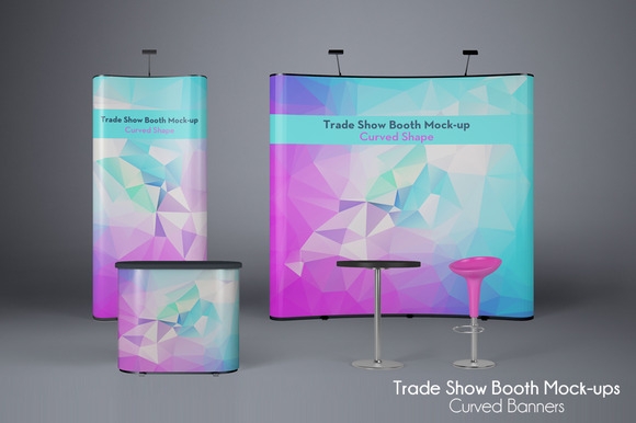 Exhibition Booth Mock Up : Trade show booth mock ups v product mockups on creative