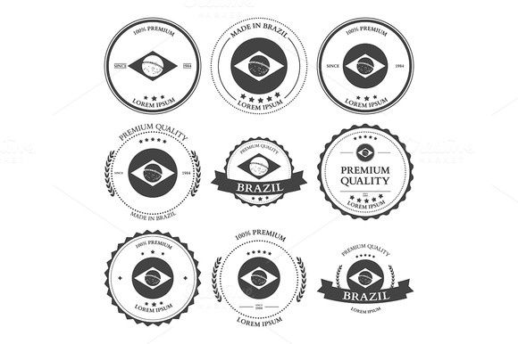 Made In Brazil Seals Badges