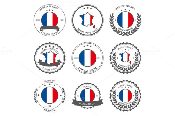 Made In France Seals Badges