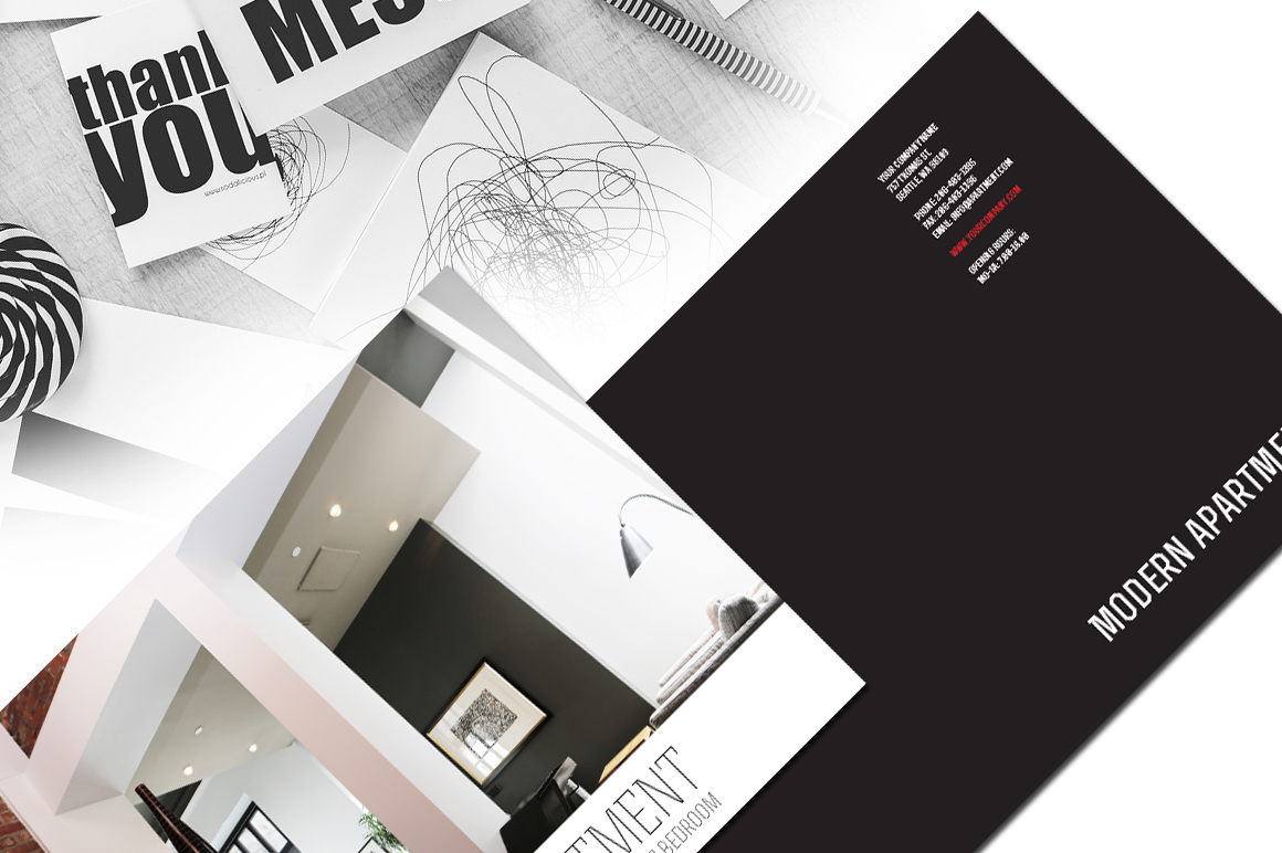 apartment brochure templates - indesign modern apartment brochure brochure templates on