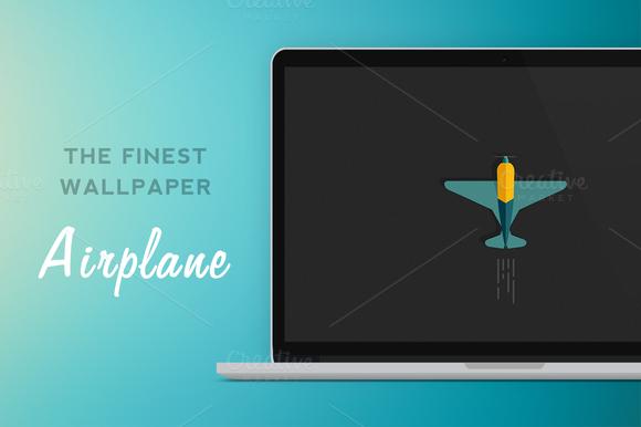 Finest Airplane Wallpaper PSD