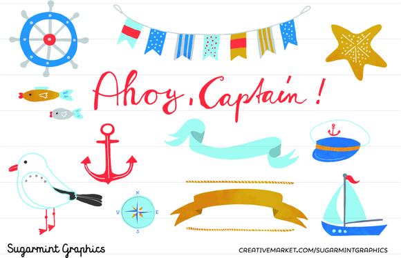 Nautical Clip Art Bunting Anchor