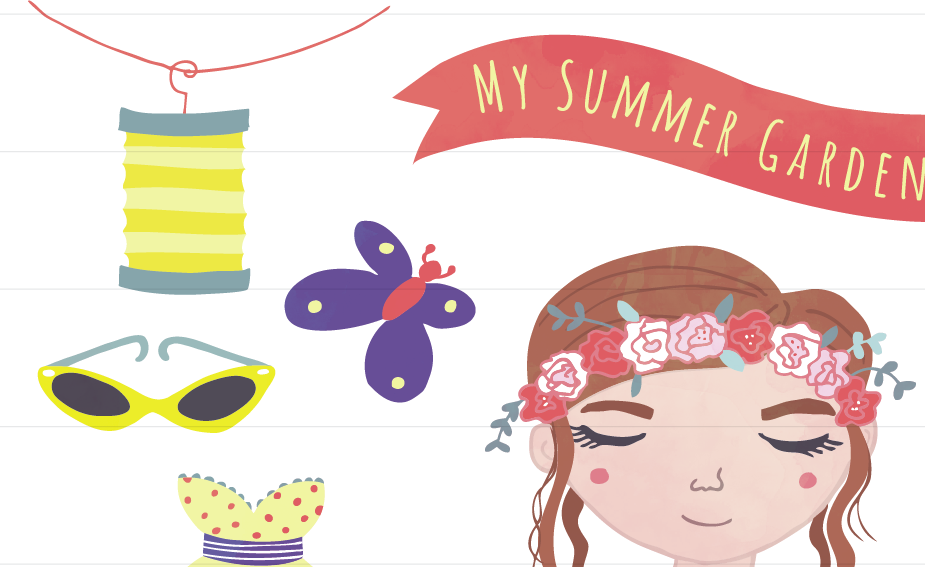 Summer clip art garden party melon illustrations on creative market