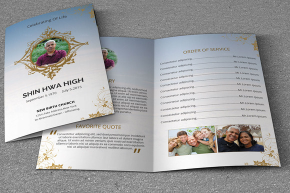 Elegant funeral program templatev112 brochure templates for Elegant brochure templates
