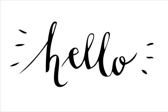 Hello calligraphy vector illustrations on creative market