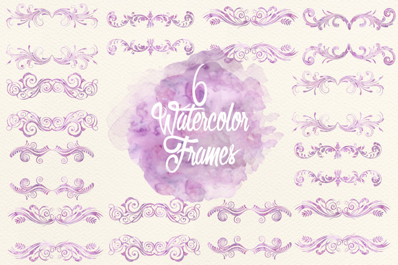 Watercolor Lavender Frames