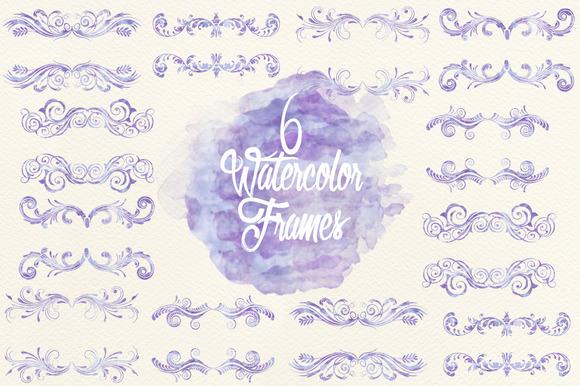 Watercolor Lavender Frames