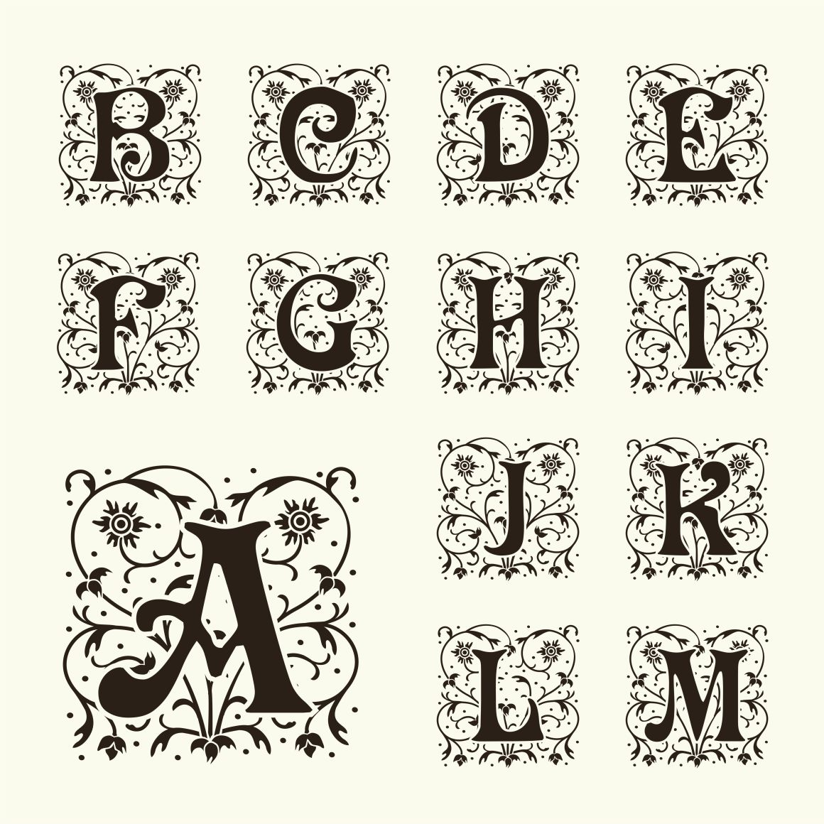 26 Monogram With Capital Letters