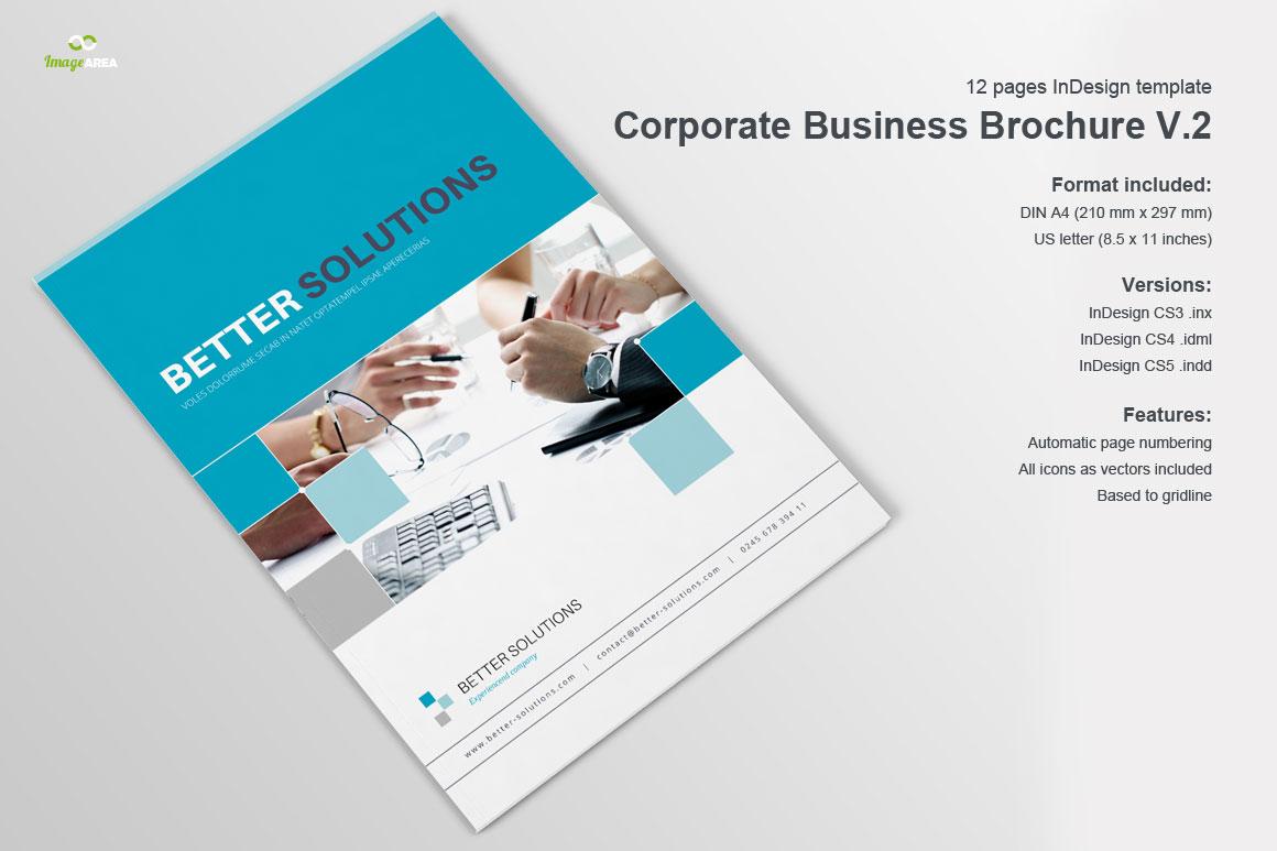 corporate business brochure vol 2 brochure templates on. Black Bedroom Furniture Sets. Home Design Ideas