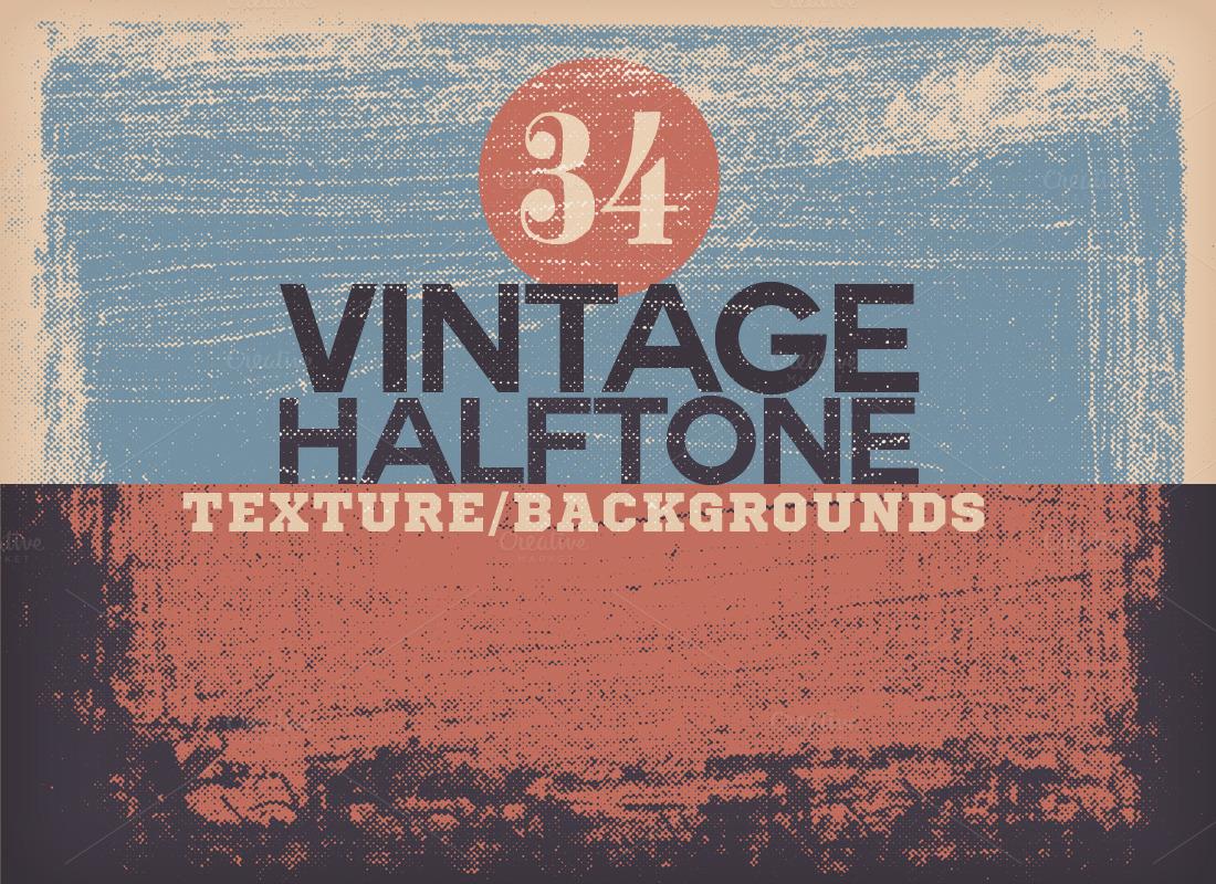 Vintage Halftone Texture Backgrounds Textures On