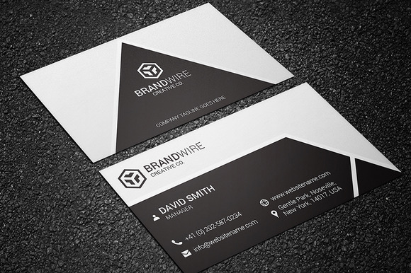 Black & White Business Card Business Card Templates on