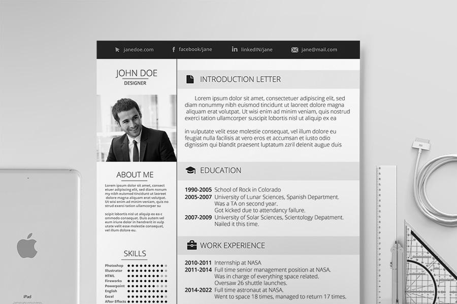 elegant resume resume templates on creative market