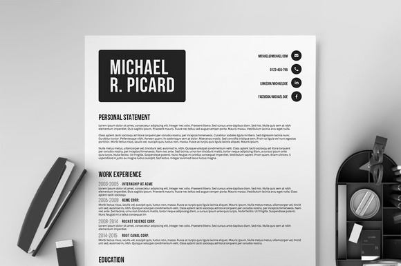 Resume/CV Template VI - Resumes - 1
