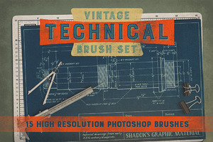 Vintage Technical Brush Set