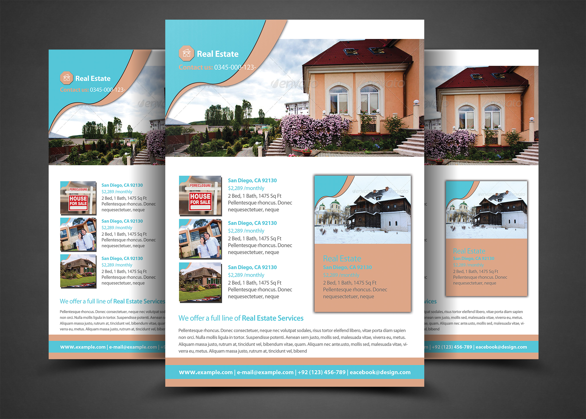 Pro real estate flyer template flyer templates on for Real estate brochures templates