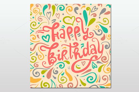 Greeting cards. Happy birthday. - Illustrations