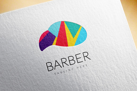 Abstract Vector Element Barber Shop