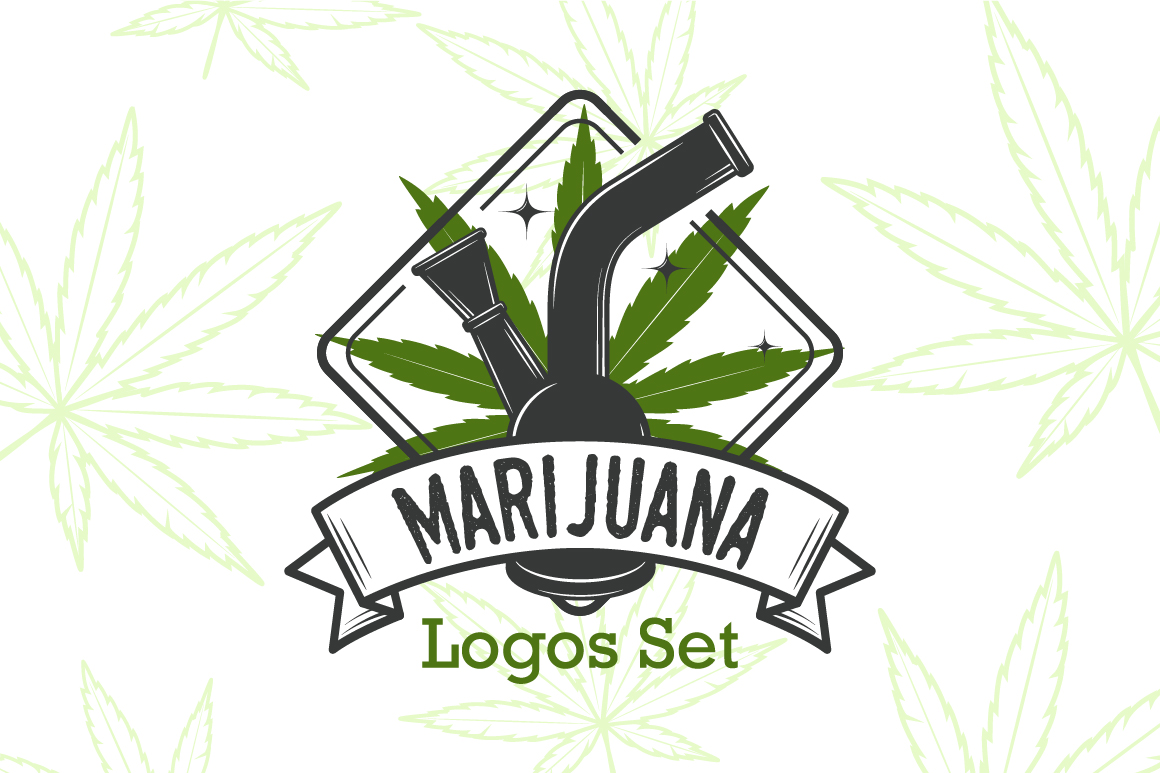 Marijuana Logos Bundle Logo Templates On Creative Market