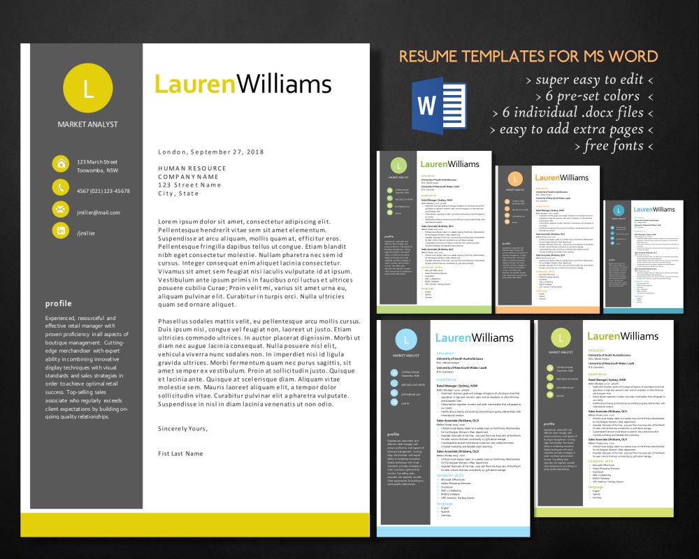 elegant resume for ms word