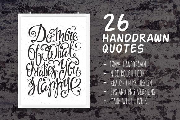 26 Handdrawn Romantic Posters