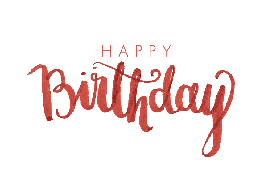 birthday modern calligraphy vector ~ Illustrations on Creative Market