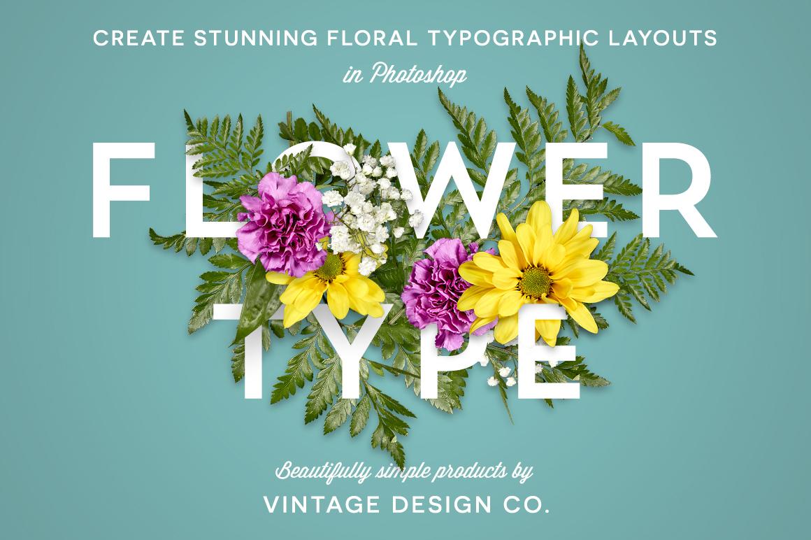 flowertype for photoshop