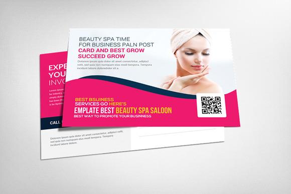 Splendid Beauty Spa Salon Postcard