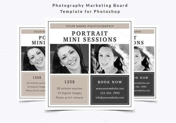 free photography marketing templates - photography marketing board template flyer templates on