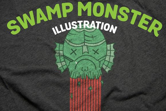 Swamp Monster Illustration
