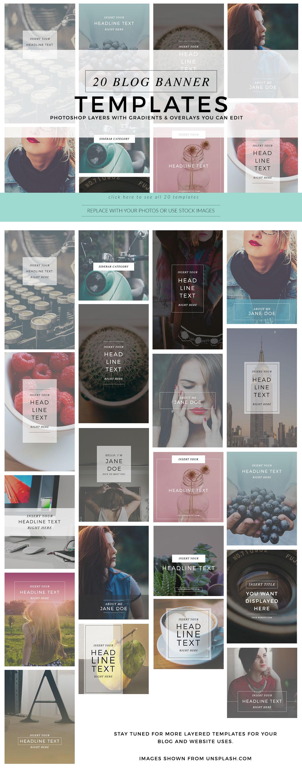 Instagram Pinterest Skyyamazin: 20 Instagram – Pinterest Banner Templates